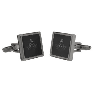 Square and Compass with inset G (Ombre) Cufflinks