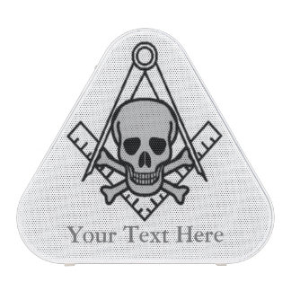Square and Compass with Inset Skull Speaker