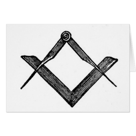 Square and compasses card