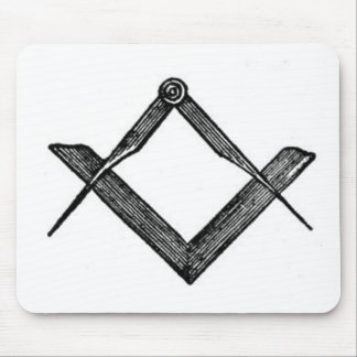 Square and compasses mouse pads