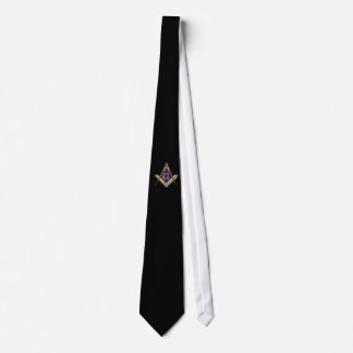 Square and Compasses Ornate Tie
