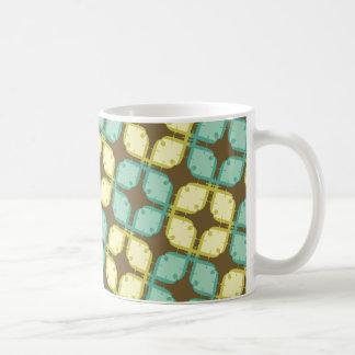 square and cross pattern classic white coffee mug