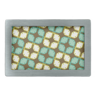 square and cross pattern rectangular belt buckle