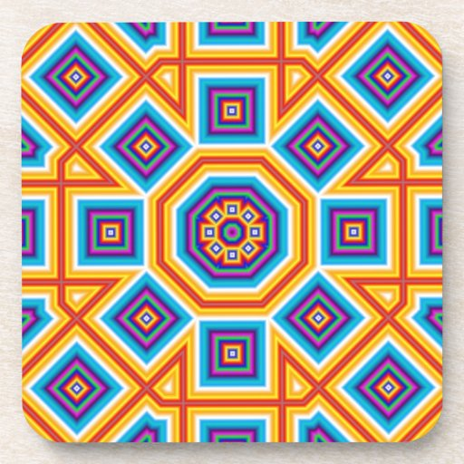 Square and Octagon Pattern Beverage Coasters