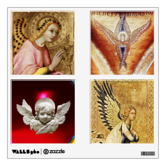 SQUARE ANGELS AND NATIVITY CHRISTMAS COLLECTION WALL STICKER