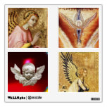 SQUARE ANGELS CHRISTMAS COLLECTION ROOM STICKERS