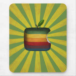 square apple mouse pad
