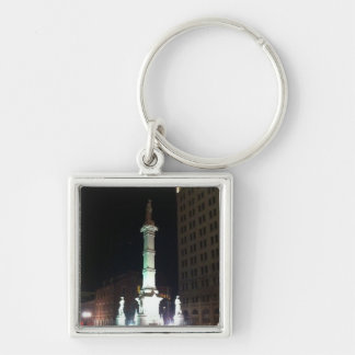 Square at Night Keychain