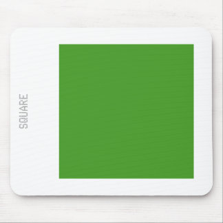 Square - Avocado Green and White Mouse Pad