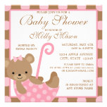 Square Baby Bear Baby Shower Invitation