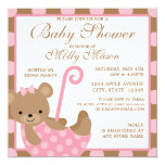 "Square Baby Bear Baby Shower Invitation 5.25"" Square Invitation Card"