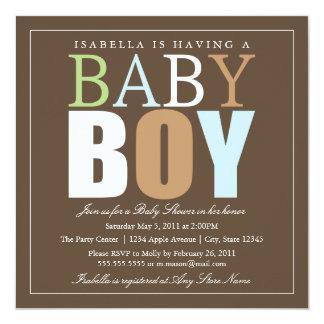 Square Baby Boy | Baby Shower Invite