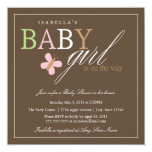 Square Baby Girl | Baby Shower Invite