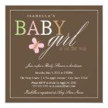 Square Baby Girl | Baby Shower Invite