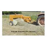 Square baler business card