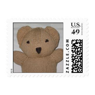 Square Bear Hug Postage Stamps