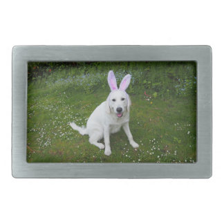 square belt buckle with cute dog photo