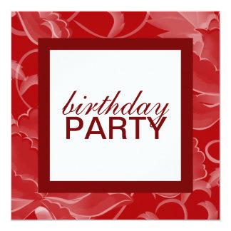 """Square Birthday Party Invitations 5.25"""" Square Invitation Card"""