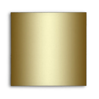 Square Black and Gold Linen Envelope