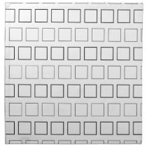 Square Black and White Minimalist Pattern Cloth Napkin