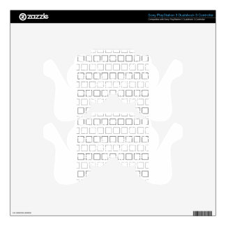Square Black and White Minimalist Pattern PS3 Controller Skin