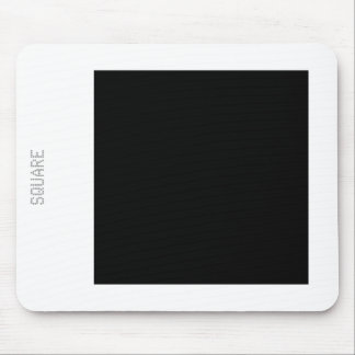 Square - Black and White Mouse Pad
