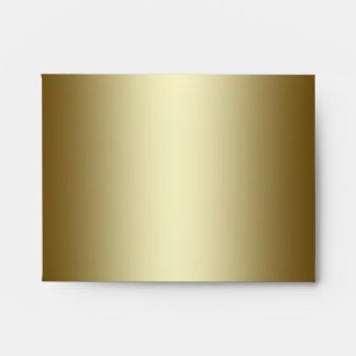 Square Black Gold Linen RSVP Envelopes