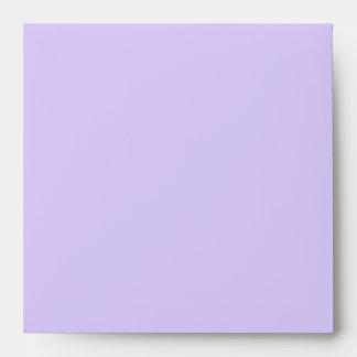 Square Black Purple Linen Envelopes