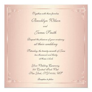 Square Blush Wedding Invitations Elegant