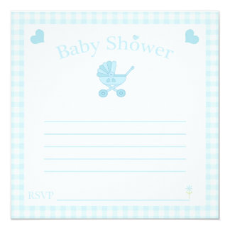 Square Boy Baby Shower Invite