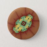 Square Brain - Fractal Pinback Button