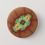 Square Brain - Fractal Pinback Button