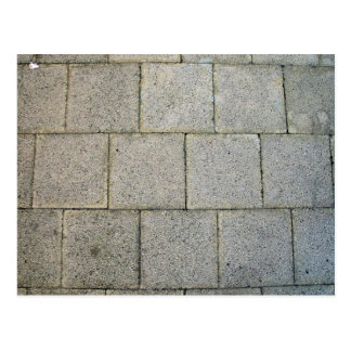Square Brick Pavers Postcard