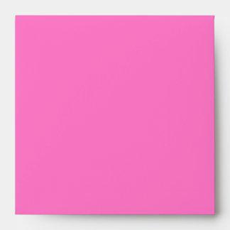 Square Bright Pink Envelope