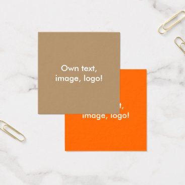 Professional Business Square Business Cards Gold-Orange