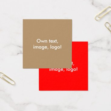 Professional Business Square Business Cards Gold-Red