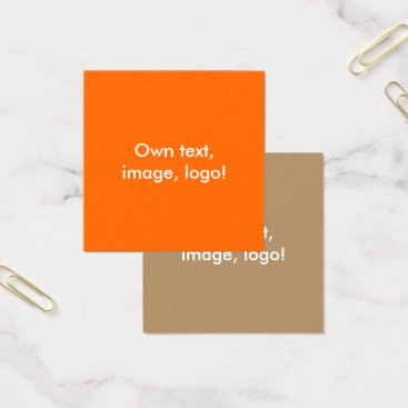 Professional Business Square Business Cards Orange-Gold