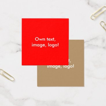 Professional Business Square Business Cards Red-Gold