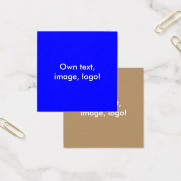Professional Business Square Business Cards Royal Blue-Gold
