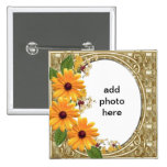 square button flower frame
