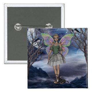 Square Button Me green faerie