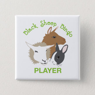 Square Button; Player Pinback Button