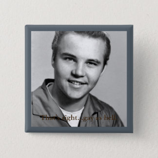 square button with black and white image, and