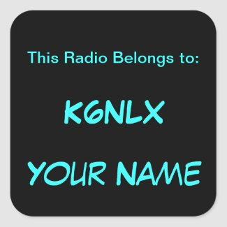 Square Call Sign Radio Stickers sticker