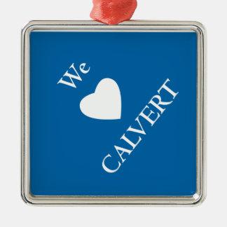 Square Calvert Holiday Ornament