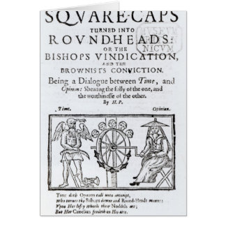 Square-Caps turned into Round Heads, 1642 Card