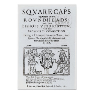 Square-Caps turned into Round Heads, 1642 Poster