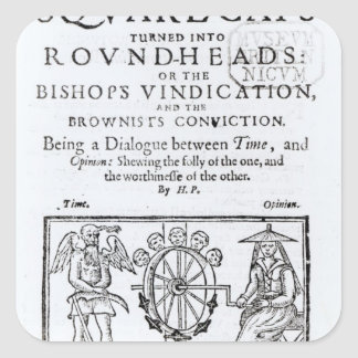 Square-Caps turned into Round Heads, 1642 Square Sticker