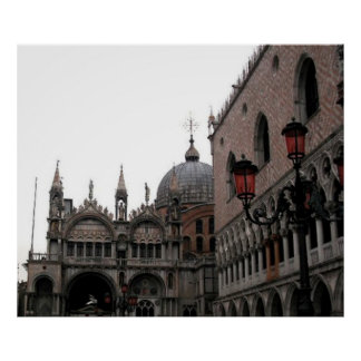 Square & Cathedral Basilica of St Mark Poster