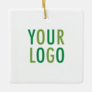 Square Ceramic Promotional Ornament Company Logo